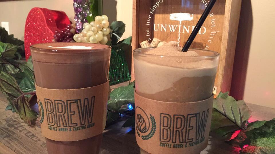 Granitas served at Brew Coffee House