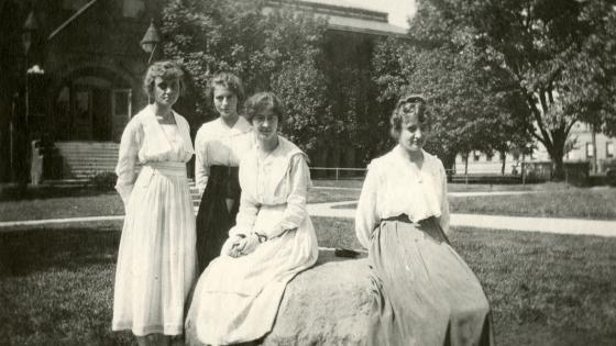 Image courtesy of UNL Libraries Special Collections and Archives.  Taken in front of what is now Architecture Hall, ca 1900.