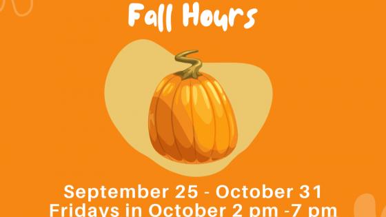 2021 Fall Hours
