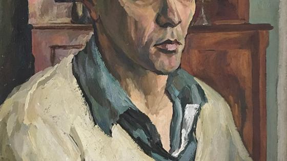Leonard Thiessen Self-Portrait oil on canvas, 1937 Loan from Asher Wallis, Museum of Nebraska Art Collection