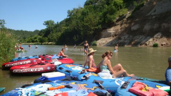 "Niobrara River Tubing | ""hanging out at the swimming hole"""