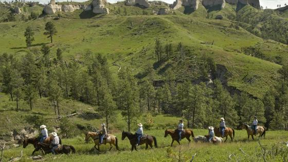 Horseback Riding at Fort Robinson State Park, Nebraska