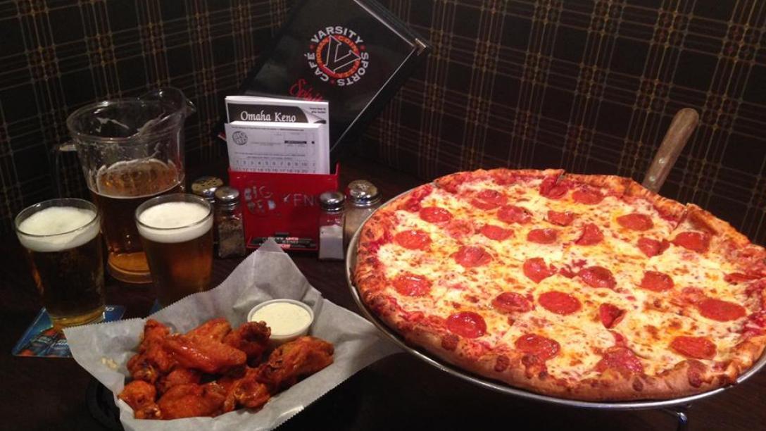 varsity sports cafe & roman coin pizza