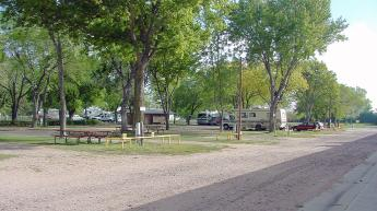 Shaded Campground sites