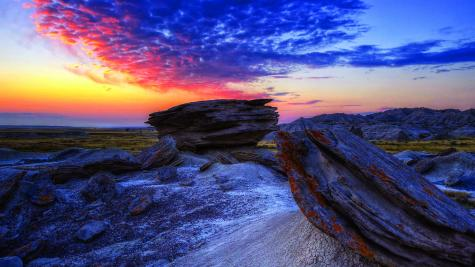 Sunrise over Toadstool Geologic Park